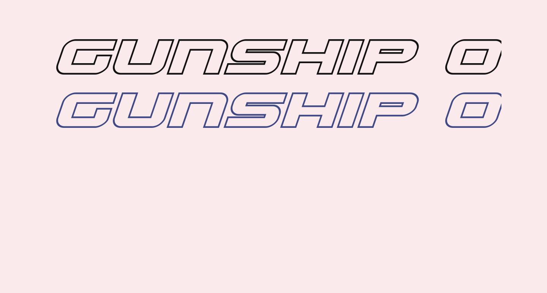 Gunship Outline Italic