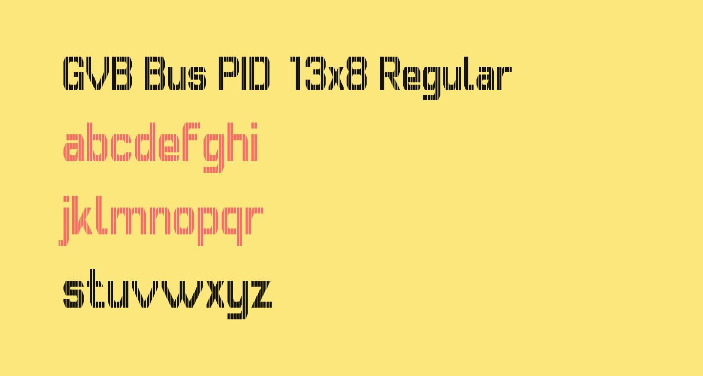 GVB Bus PID 13x8 Regular