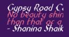 Gypsy Road Condensed Italic