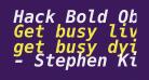 Hack Bold Oblique