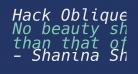 Hack Oblique