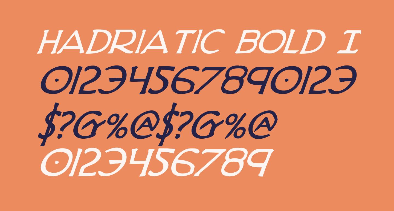 Hadriatic Bold Italic