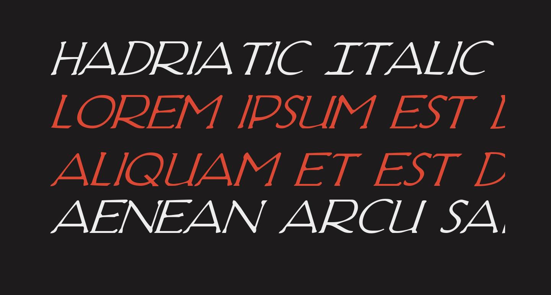 Hadriatic Italic