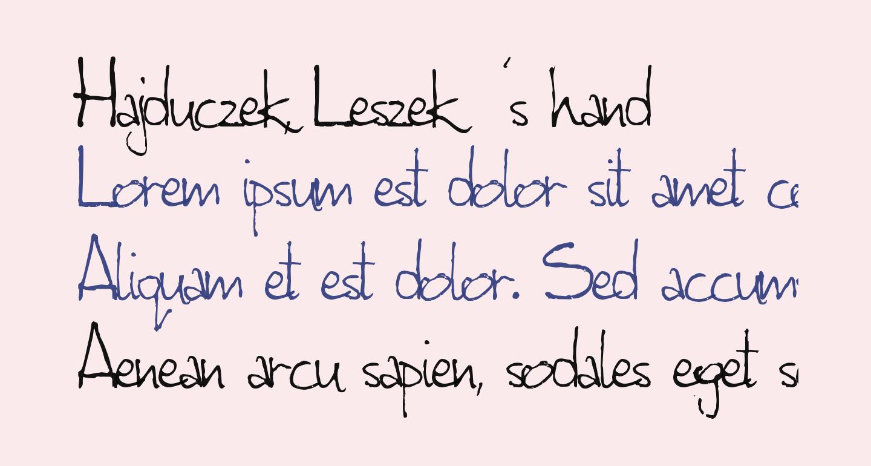 Hajduczek, Leszek's hand