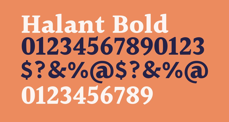 Halant Bold