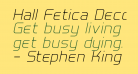 Hall Fetica Decompose Italic