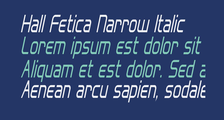 Hall Fetica Narrow Italic