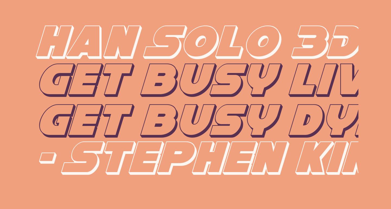 Han Solo 3D Italic