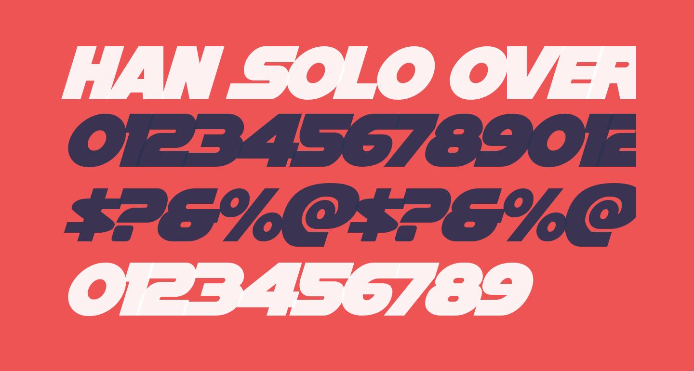 Han Solo Overlap Italic