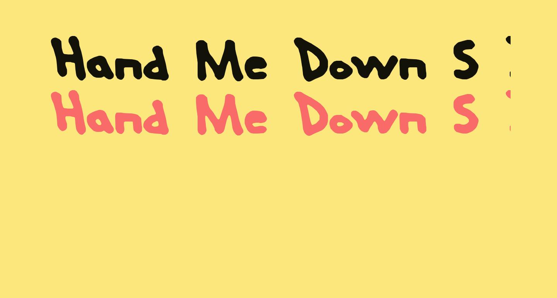 Hand Me Down S BRK