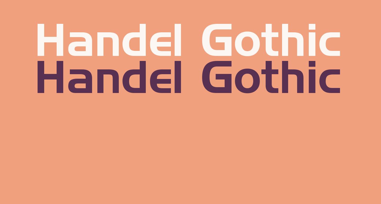 Handel Gothic BT