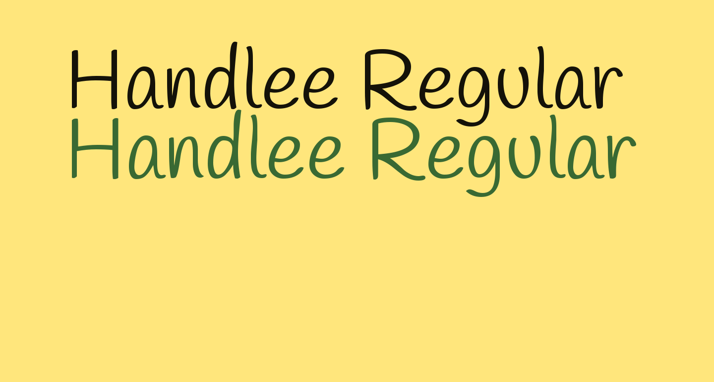 Handlee Regular