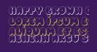 Happy brown cat shadow
