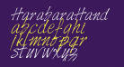 HarabaraHand Italic