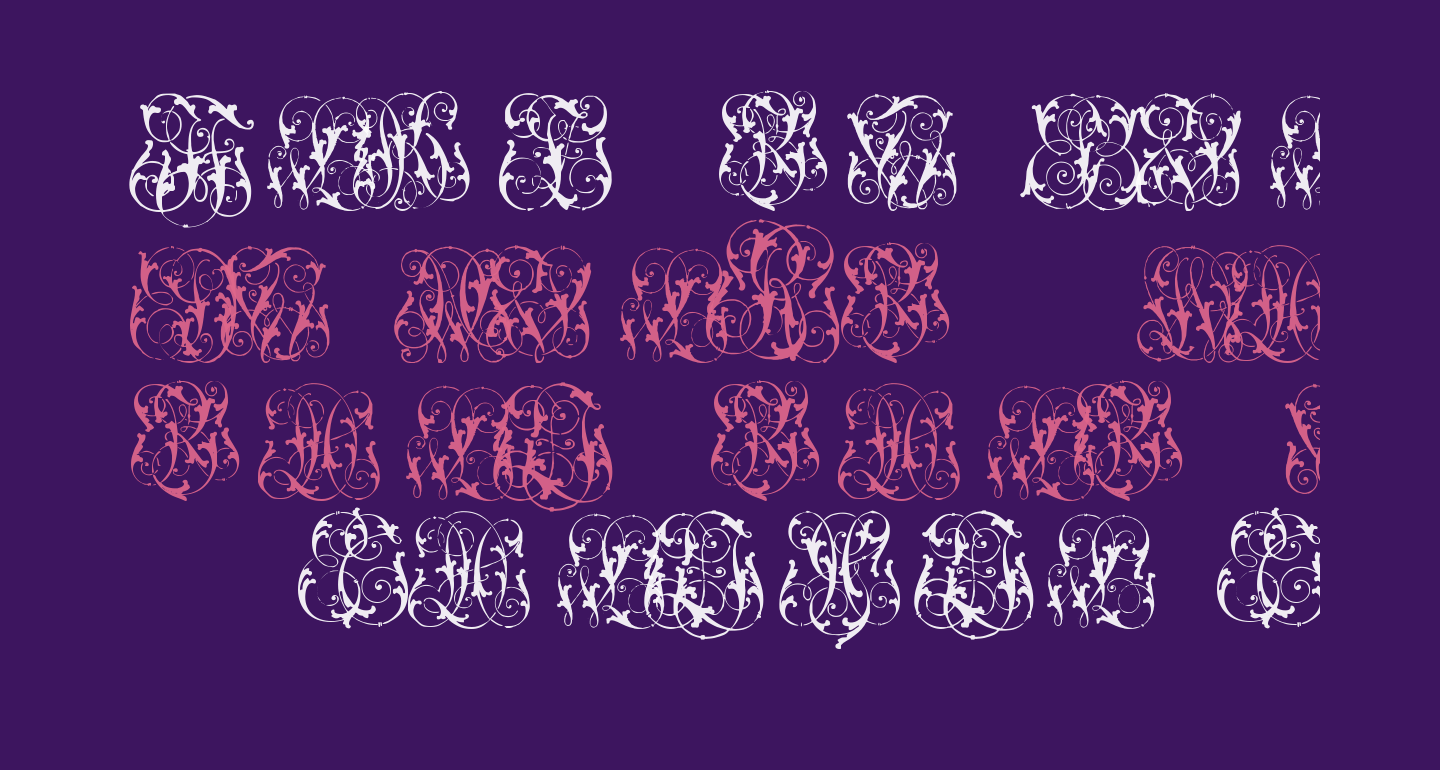 Hard to Read Monograms Two