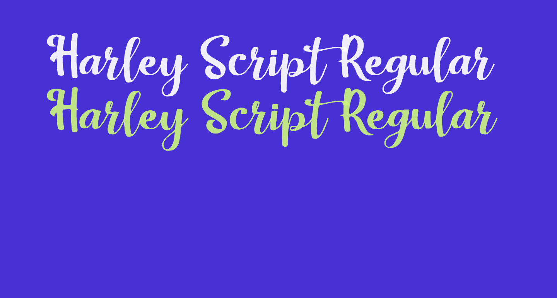 Harley Script Regular