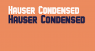 Hauser Condensed