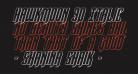 Hawkmoon 3D Italic