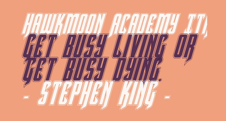 Hawkmoon Academy Italic