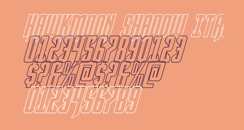 Hawkmoon Shadow Italic