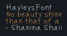 HayleysFont