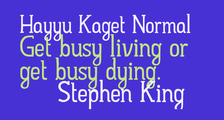 Hayyu Kaget Normal