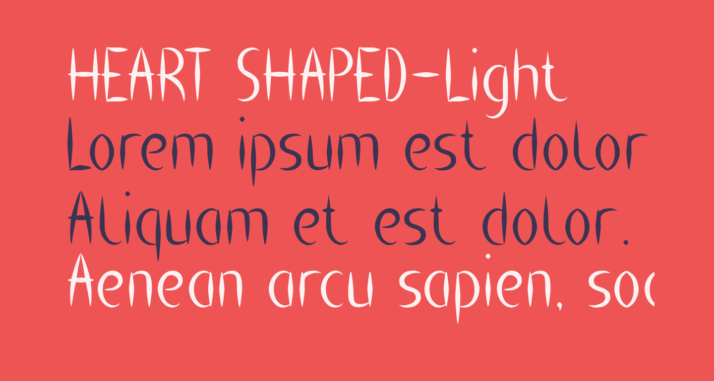 HEART SHAPED-Light