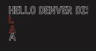 HELLO DENVER DISPLAY REGULAR Regular
