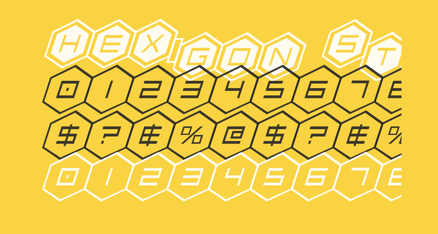 HEX:gon Staggered 2 Italic