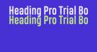 Heading Pro Trial Bold
