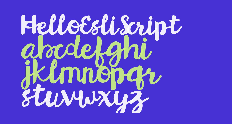 HelloEsliScript