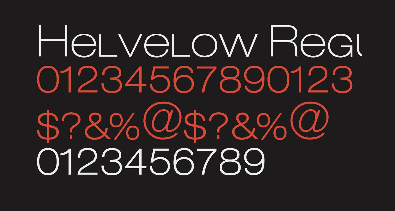 Helvelow Regular