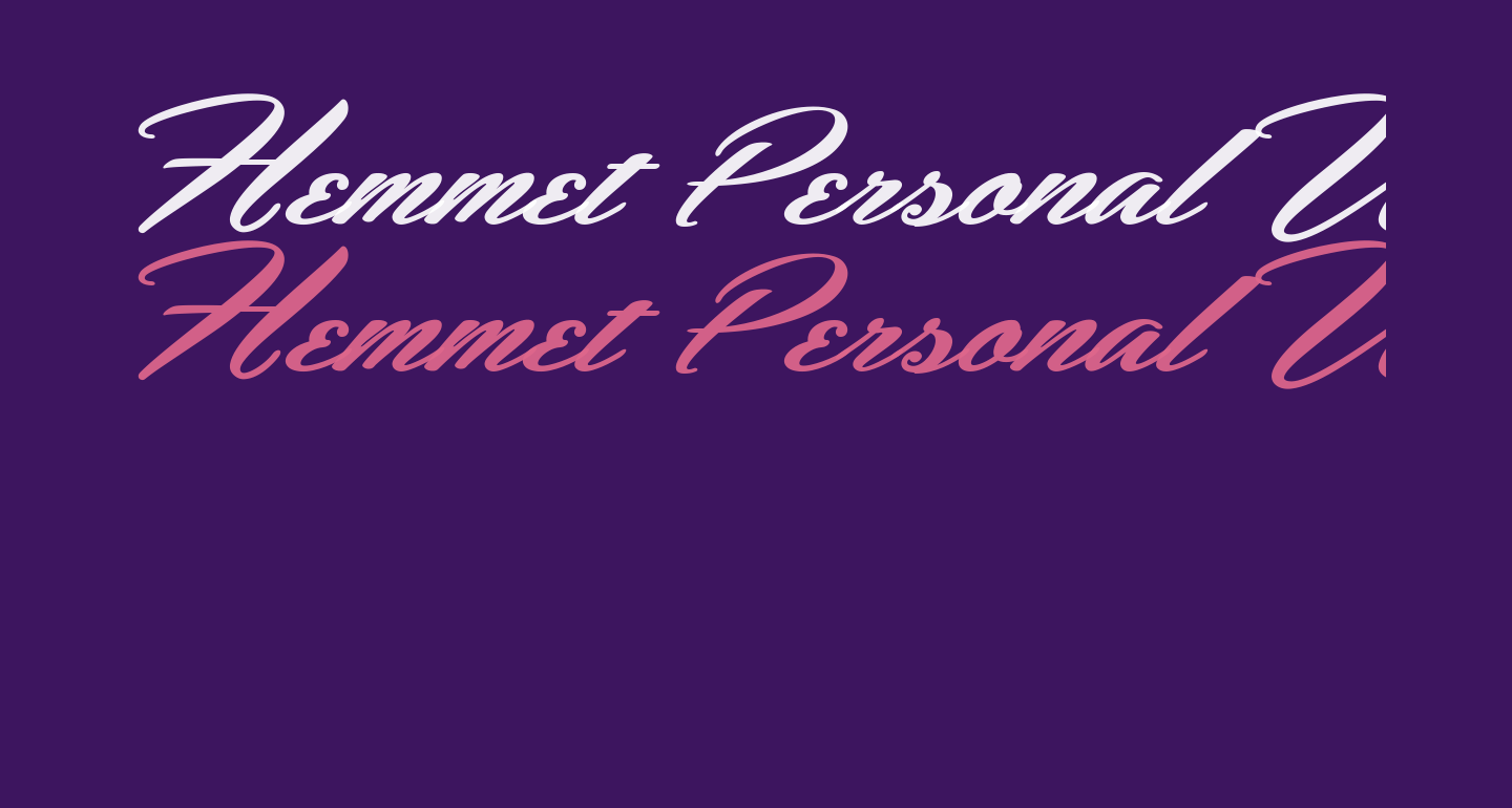 Hemmet Personal Use Only