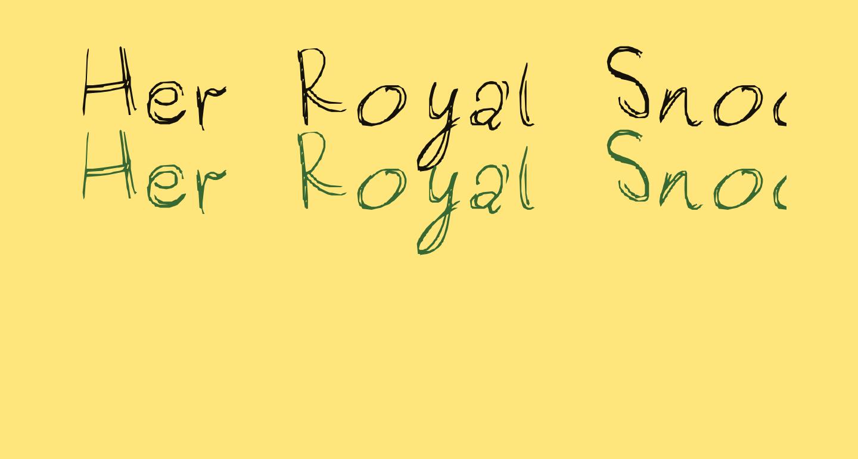 Her Royal Snootyness