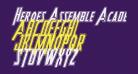 Heroes Assemble Academy Italic