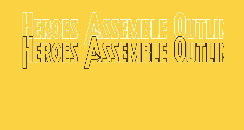 Heroes Assemble Outline Regular