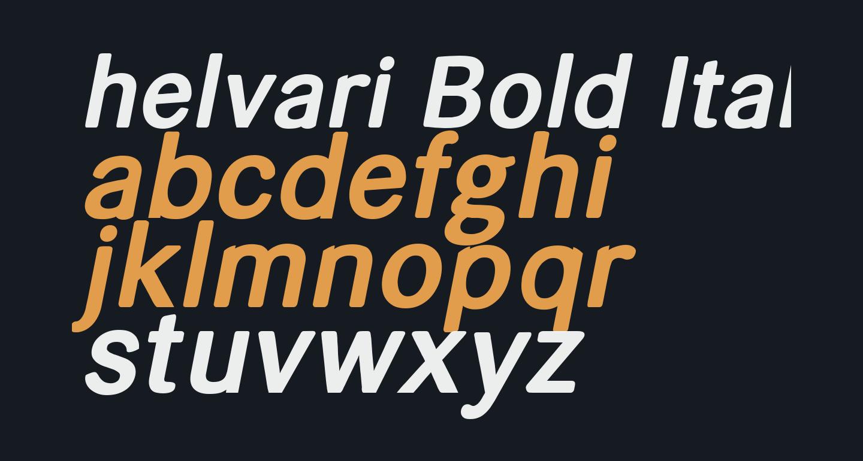 helvari Bold Italic