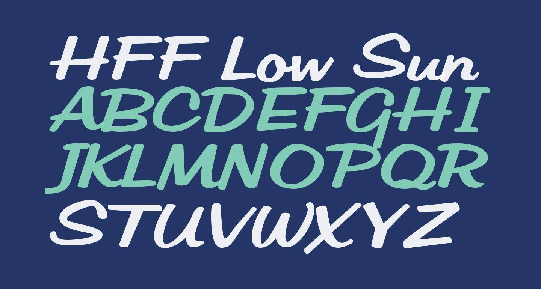 HFF Low Sun