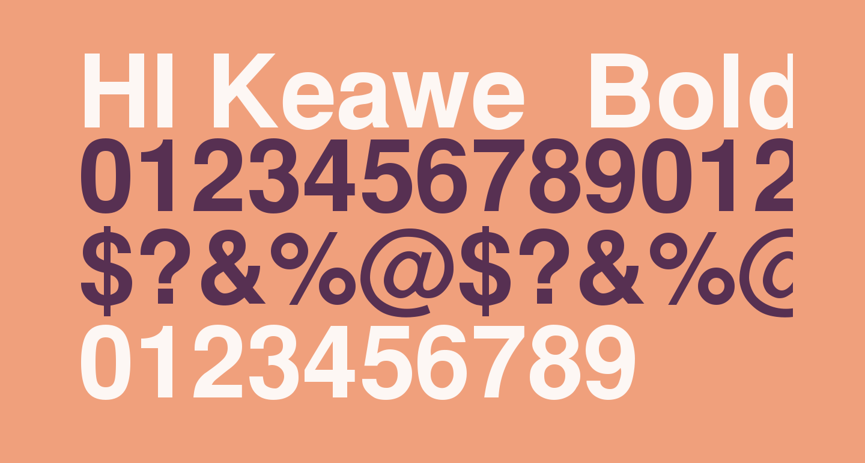 HI Keawe  Bold