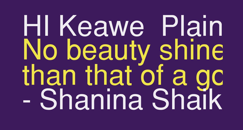 HI Keawe  Plain