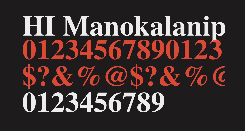 HI Manokalanipo  Bold