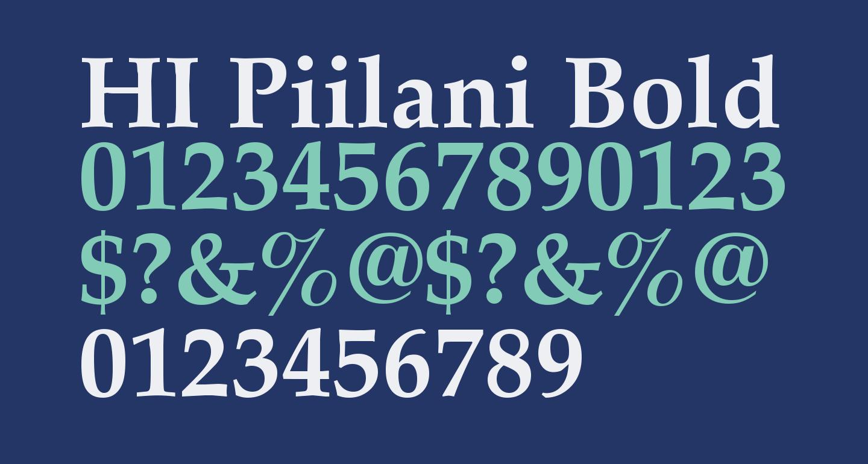 HI Piilani Bold