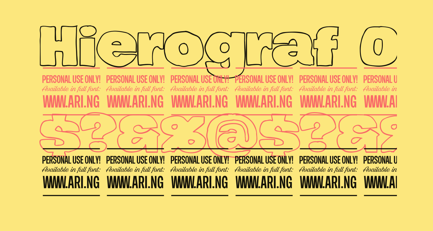 Hierograf Outline PERSONAL USE