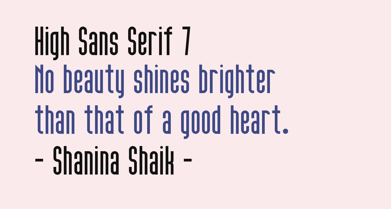 High Sans Serif 7