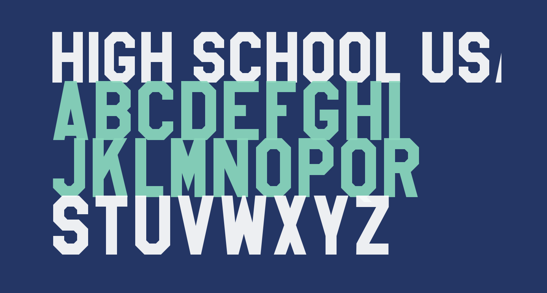 High School USA Sans