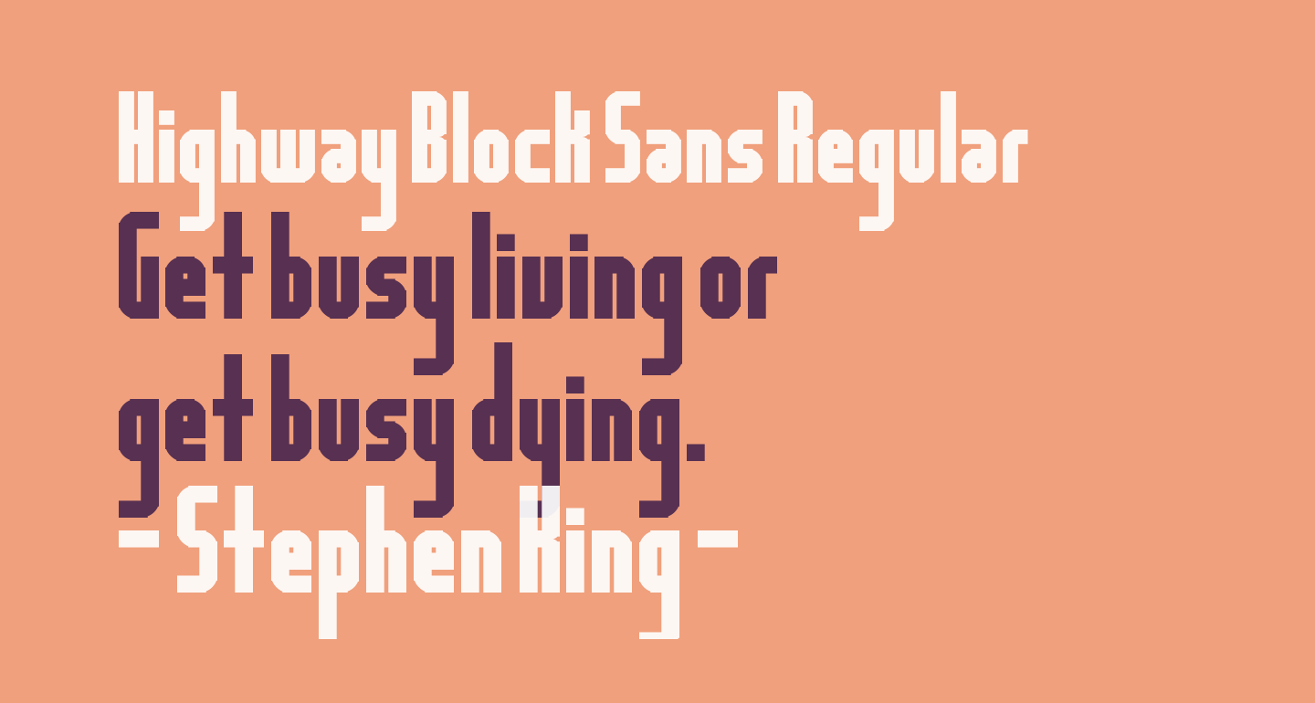 Highway Block Sans Regular