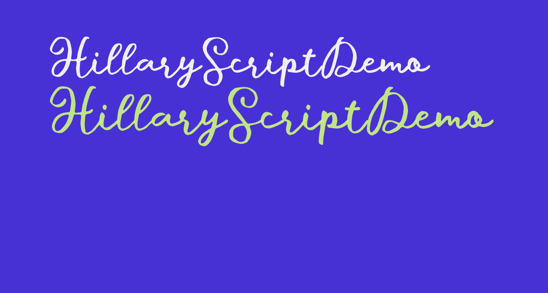 HillaryScriptDemo