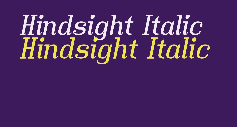 Hindsight Italic