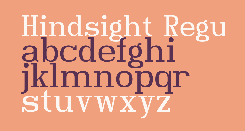 Hindsight Regular