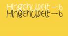 Hingehudelt-Bold